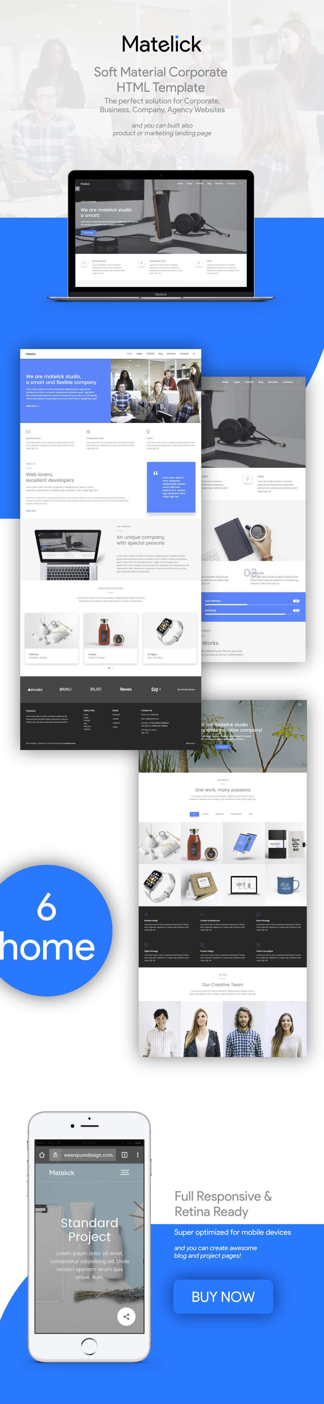 Matelick - Soft Material Corporate HTML Template - 2