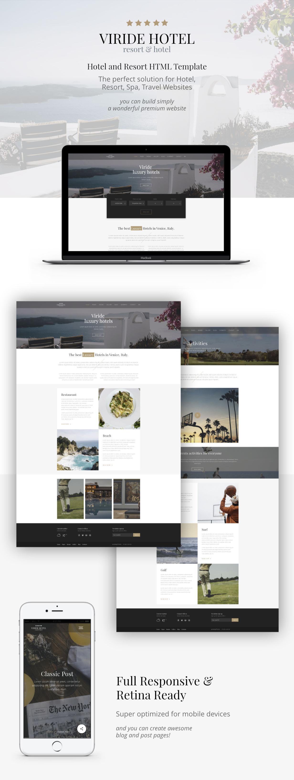 Viride - Hotel & Resort Premium HTML template - 2